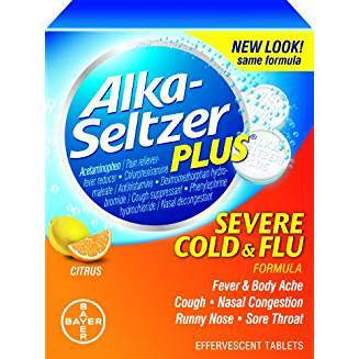 Alka-seltzer Plus Flu Citrus Effervescent, 20-Count