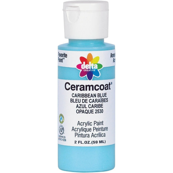 Delta Creative Ceramcoat Acrylic Paint in Assorted Colors (2 Ounce), 02530 Caribbean Blue