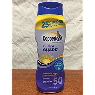 Coppertone UltraGuard Lotion SPF 50, 8 oz