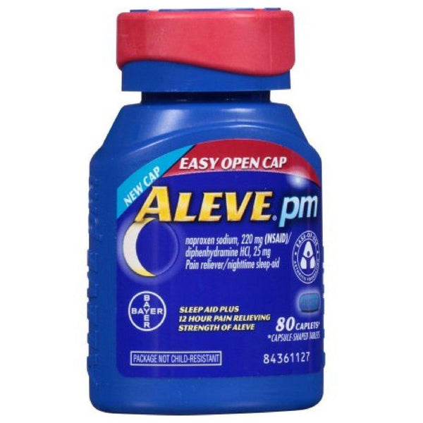 Aleve PM with Easy Open Arthritis Cap, Caplets with Naproxen Sodium, 220mg (NSAID) Pain Reliever/Fever Reducer/Sleep Aid, 40 Count
