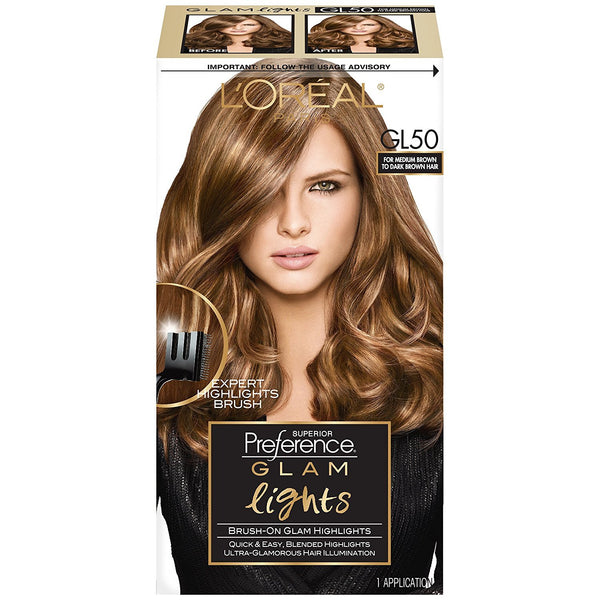 L'Oreal Paris Glam Lights Glam Lights Brush-On Glam Highlights - GL50 Medium Brown to Dark Brown