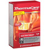 Thermacare Thermacare Lower Back and Hip Heat Wraps, Short/Medium, 2 ct