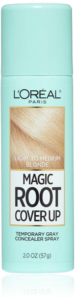 L'Oreal Paris Magic Root Cover Up Gray Concealer Spray, Light to Medium Blonde, 2 oz.