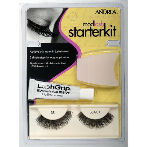 Andrea Strip Lashes Starter Kit False Eyelashes 33 Black