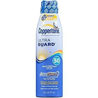 Coppertone Continuous Spray Sunscreen, with Avobenzone Aloe and Vitamin E, SPF 50, 6 Fluid Ounce (177 ml)