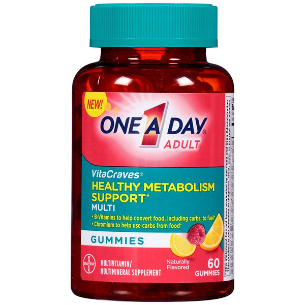 One A Day Vitacraves Healthy Metabolism Support Multivitamin, 60 Count