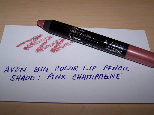 Avon Big Color Lip Pencil in Shade Pink Champagne 0.10 Oz Each (Pink Champagne)