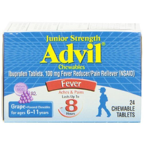 Advil Junior Strength, Chewable Tablets, Grape, 24 Count - Oh!Dreamy™ Online Store