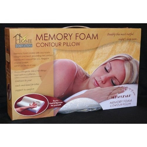 Home Innovations Memory Foam Contour Pillow With Removable Cover - Oh!Dreamy™ Online Store