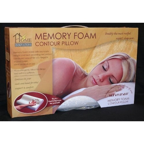Home Innovations Memory Foam Contour Pillow With Removable Cover