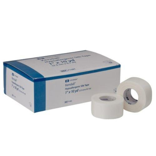 "Covidien 7139C Kendall Hypoallergenic Silk Tape, 2"" x 10 yd. Size (Pack of 6)"