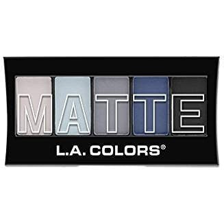 L.A. Colors 5 Color Matte Eyeshadow, Blue Denim, 0.08 Ounce