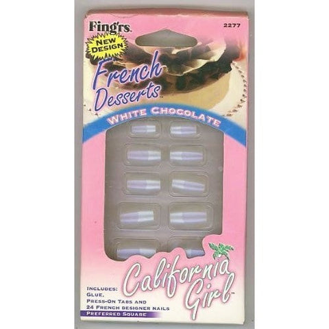 Fing'rs Artificial Fingernails French Desserts-White Chocolate