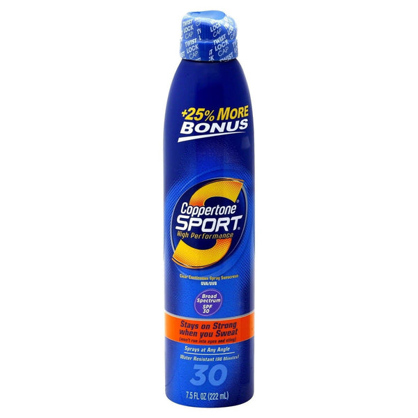 Coppertone Sport Clear Continuous Spray Sunscreen, SPF 30 - 7.5 fl oz can