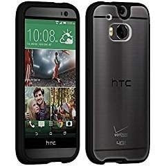 The All New HTC One Verizon OEM Clear Shell with Black Edge Cover