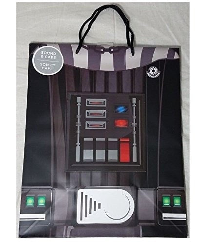 New Hallmark Star Wars Darth Vader Large Gift Bag with Cape and Sound - Rare