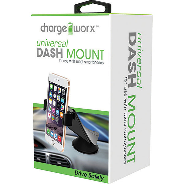CHARGEWORX Dash Mount for use with most smartphones
