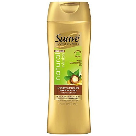 Suave Shampoo Natural Infusion Moisturizing 12.6 Ounce (372ml) (6 Pack)