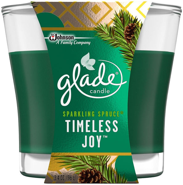 Glade Jar Candle Air Freshener, Timeless Joy, 3.4 Ounce