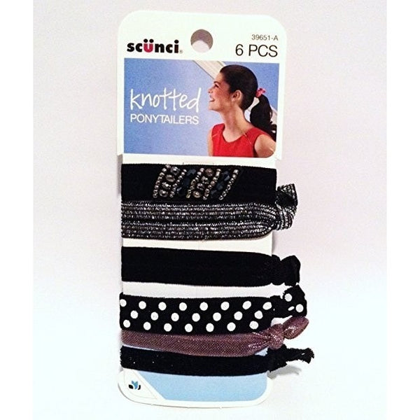Scunci Knotted Ponytailers 6 Pcs