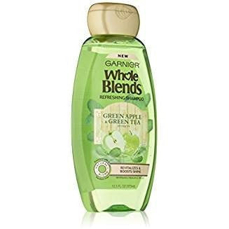 Garnier Whole Blends Shampoo Green Apple/Green Tea 12.5 Ounce