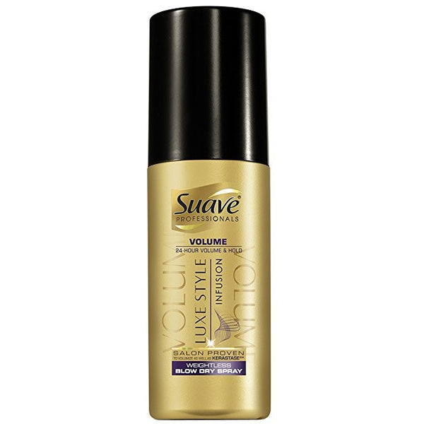 Suave Luxe Style Volume Blow Dry Spray 5 Ounce (145ml) (3 Pack)