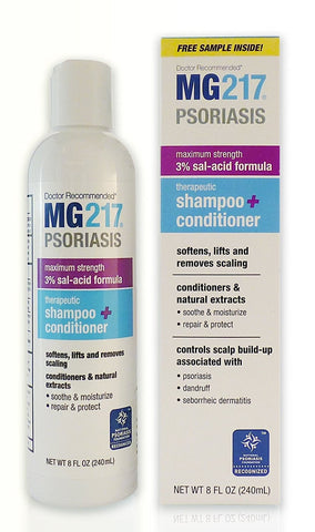 MG217 Therapeutic Salicylic Acid Shampoo and Conditioner, 8 Oz (3 Pack)