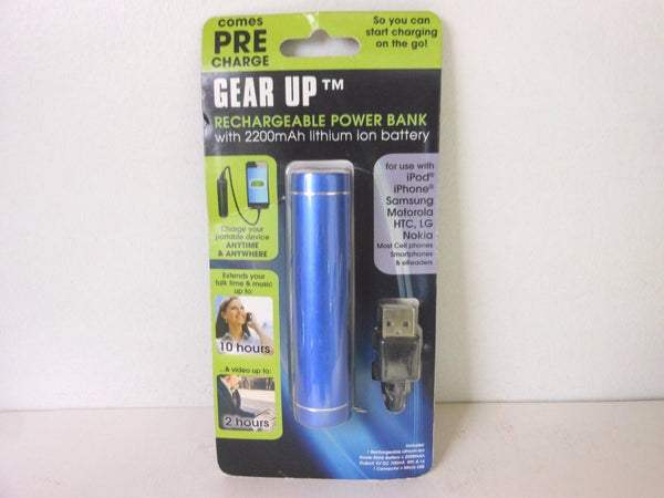 GEAR UP Rechargeable Portable Power with 2200mAh lithium ion battery NEW