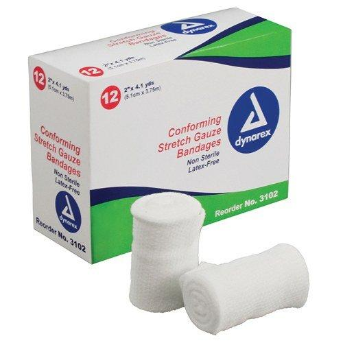 Dynarex Corporation (n) Vital-Roll Conforming Gauze Non-Sterile 4 X 4.1 Yds Pk/12