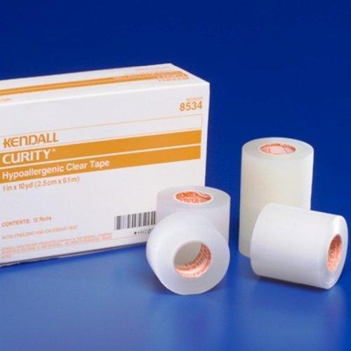 8534C Kendall Hypoallergenic Clear Tape 1 Inch x 10 yards (2.5 cm x 9.1 m) 12 Rolls Per Box Part No. 8534C by Kendall/Covidien