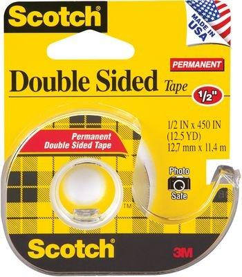 "3M 137 1/2"" Scotch® Double Sided Tape With Dispenser"