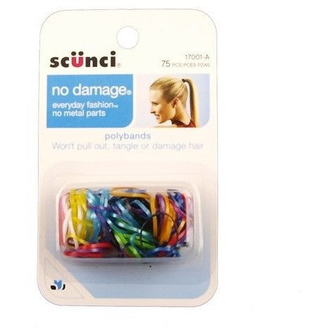 Scunci No Damage Poly Bands, 75 ct.