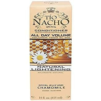 Pack of 3 Tio Nacho All Day Volume Natural Lightening Conditioner 14 oz with Natural Extracts Royal Jelly and Chamomile
