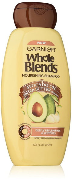 Garnier Whole Blends Nourishing Shampoo with Avocado Oil & Shea Butter Extracts, 12.5 Fluid Ounce