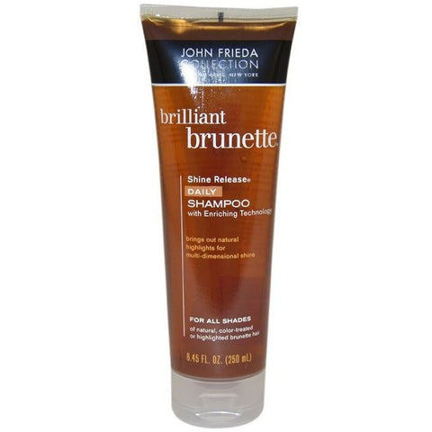 John Frieda Brilliant  Brunette Colour Protecting Moisturizing Shampoo 8.45Fl Oz