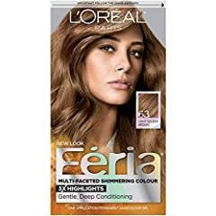 L'Oreal Feria Permanent Haircolor #63 Sparkling Amber (Light Golden Brown)