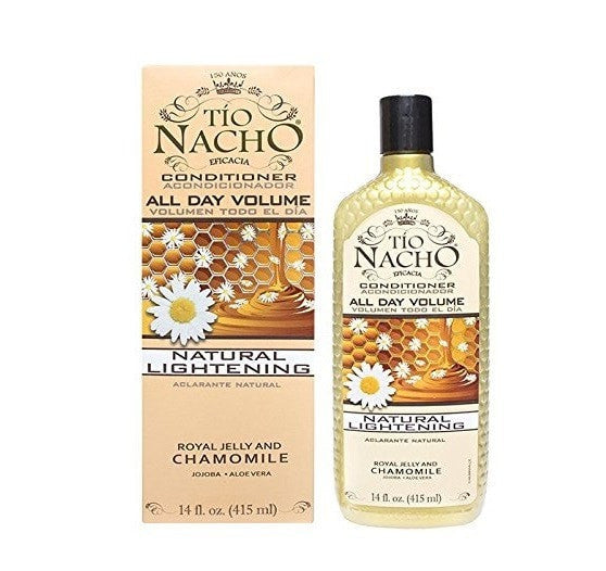 Tio Nacho All Day Volume Natural Lightening Conditioner 14 oz with Natural Extracts Royal Jelly and Chamomile