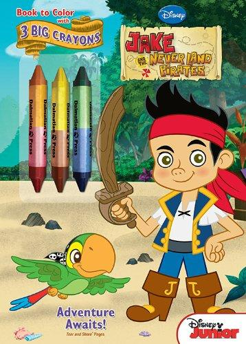 Bendon Jake and the Neverland Pirates Coloring Book with Crayons- Adventure Awaits