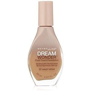 2 Pack- Maybelline Dream Wonder Fluid-Touch Foundation #60 Sandy Beige