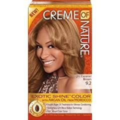Creme of Nature Exotic Shine Color, Light Caramel Brown, 9.2 Fluid Ounce
