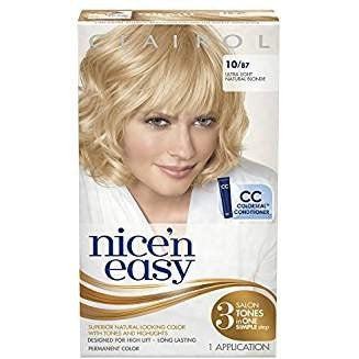 Clairol Nice 'N Easy Hair Color 10/87 Ultra Light Natural Blonde 1 Kit
