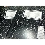 Top Flight Sewn Marble Composition Book, Black/White, College Rule, 9.75 x 7.5 Inches, 100 Sheets (41350)