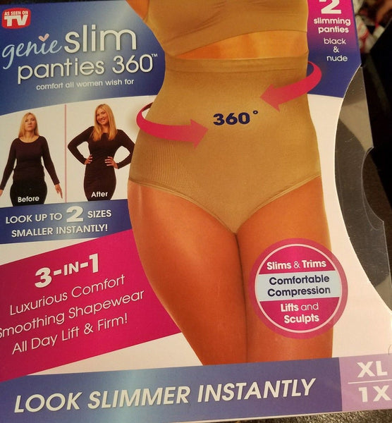 Genie Slim Panties 360 As Seen On Tv Size Xl Nude & Black