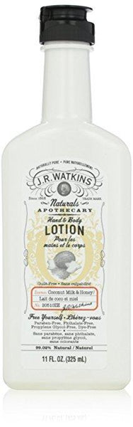 J.R. Watkins Natural Hand and Body Lotion, Coconut Milk and Honey, 11 Fluid Ounce