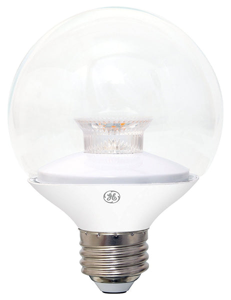 GE Lighting 37922 Dimmable LED G25 Decorative Bulb with Candelabra Base, 5-Watt, Clear