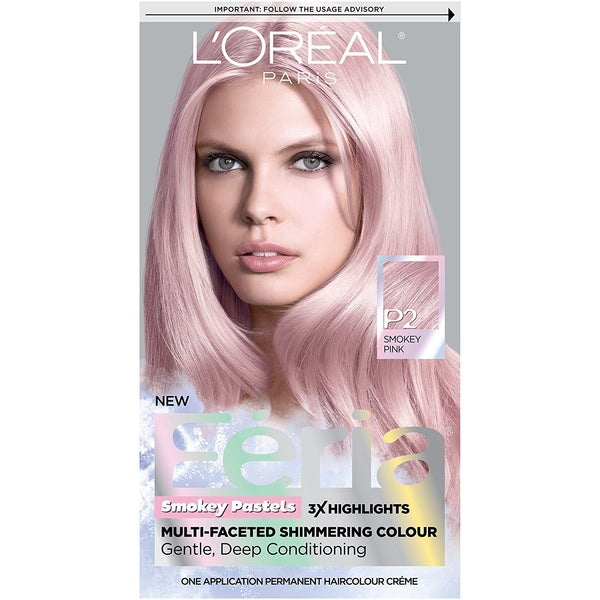 L'Oreal Paris Hair Color Feria Pastels, P2 Smokey Pink