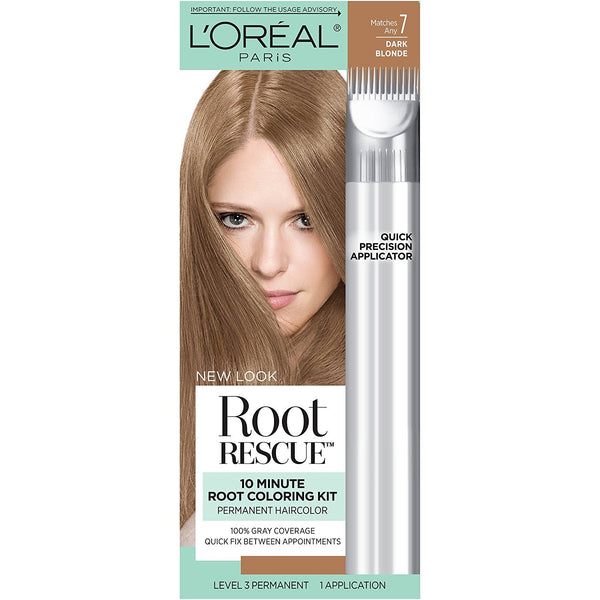 L'Oreal Paris Root Rescue 10 Minute Root Coloring Kit, Dark Blonde 7