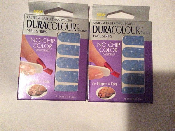 Dura colour nail strips no chip color for fingers and toes 36 nail strips nailene pack of 2