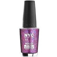 (6 Pack) NYC In A New York Color Minute Sparkle Top Coat - Big City Dazzle