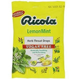 Cough Drops - Lemon Mint Sugar Free Ricola 19 Lozenge
